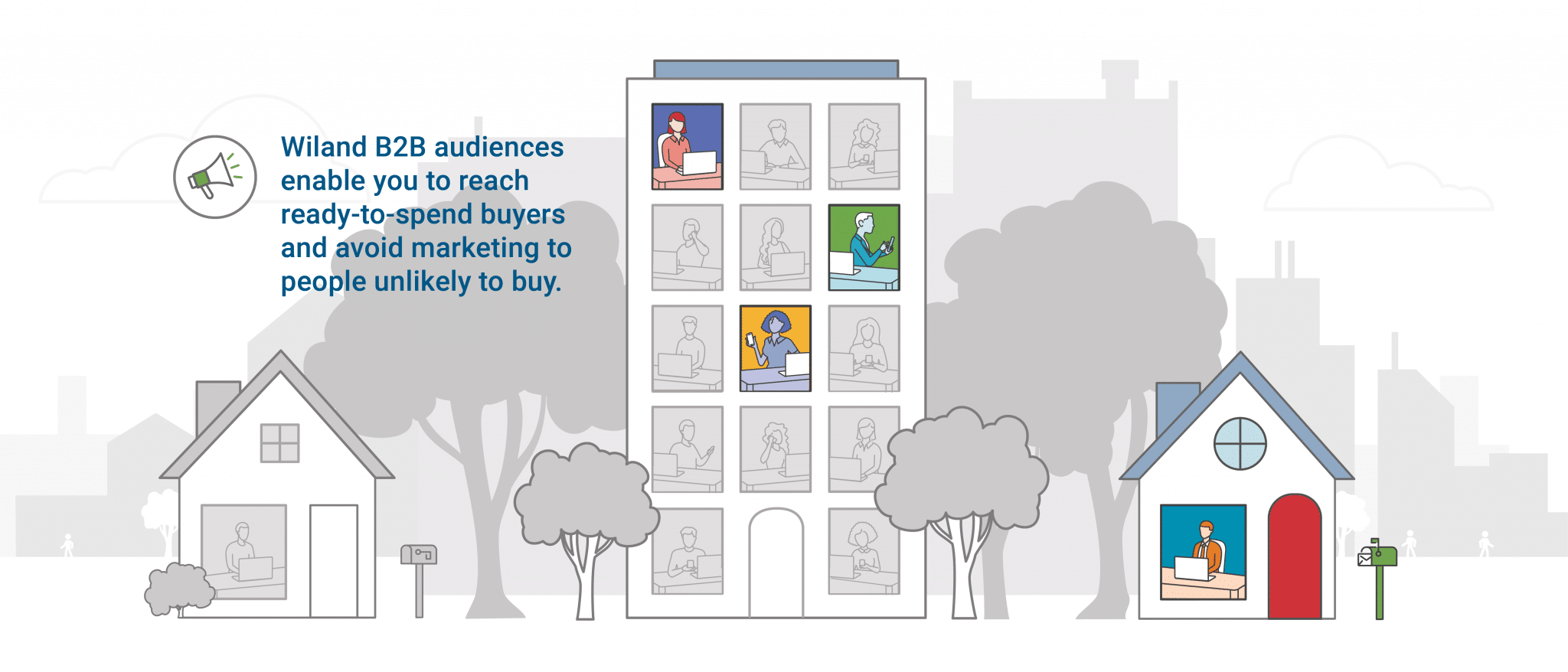 Wiland B2B audiences enable you to reach ready-to-spend buyers and avoid marketing to people unlikely to buy.